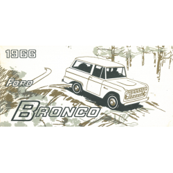 Ford Bronco, Manual 1966