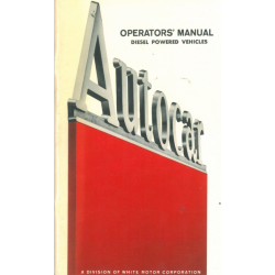 Operator's Manual Autocar...