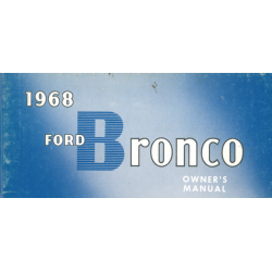 Ford Bronco, Manual 1968