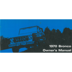 Ford Bronco, Manual 1970