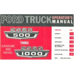Manual 1966 Ford Truck 500...
