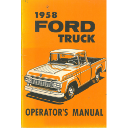 Manual 1958 Ford Truck