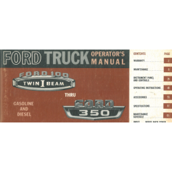Manual 1965 Ford Truck 100...