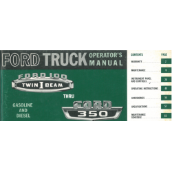 Manual 1966 Ford Truck 100...