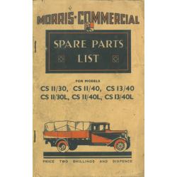 Ersatzteil-Liste Morris CS...