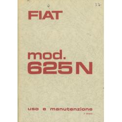 Uso e manutenzione Fiat 625...
