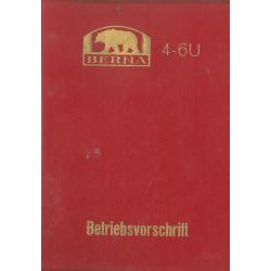 Betriebsvorschrift Berna...