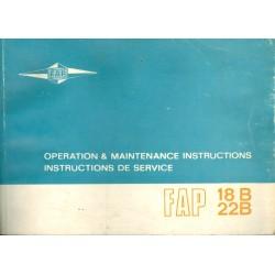 FAP 18 B/22B, Bedienungs-...