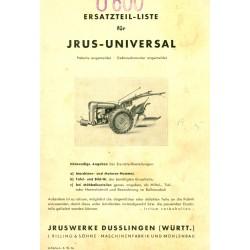 Irus Universal Ersatzteilliste