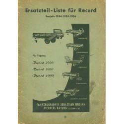 Unsinn Record Ersatzteilliste