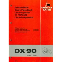 Deutz DX 90 Ersatzteilliste