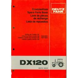 Deutz DX 120 Ersatzteilliste
