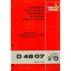 Deutz D 4807 Ersatzteilliste