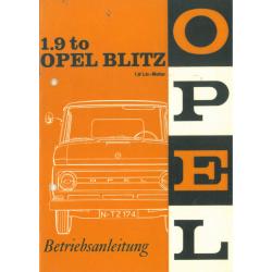 Opel Blitz Bedienungsanleitung
