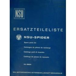 NSU-Spider Ersatzteilliste