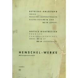 Henschel HS 16/HS 19...