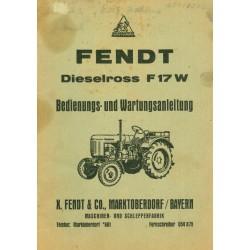 Fendt Dieselross F 17 W...