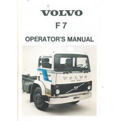 Operator's Manual Volvo F 7...