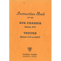Instruction Book Scania Bus...