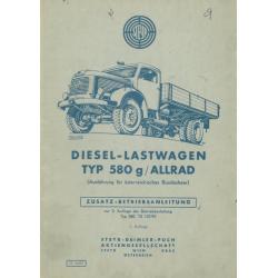 Betriebsanleitung Steyr 580...
