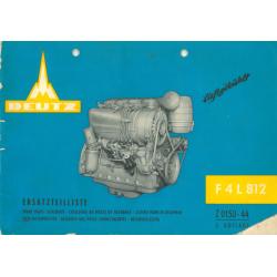 Ersatzteilliste Motor F 4 L...